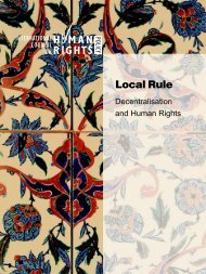 Local Rule: Decentralisation and Human Rights - The ICHRP