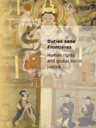 Duties sans Frontières Human rights and global social ... - The ICHRP