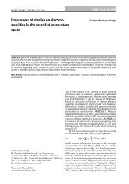 Uniqueness of studies on electron densities in the extended ...