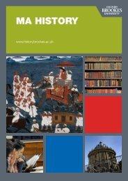 Brochure download - Oxford Brookes University - Department of ...