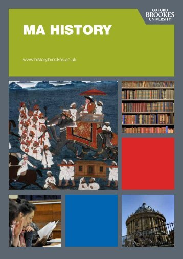 Brochure download - Oxford Brookes University - Department of ...