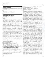 Spread of Klebsiella pneumoniae isolates producing OXA-48 b ...