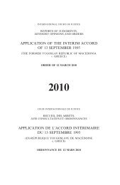 APPLICATION OF THE INTERIM ACCORD OF 13 SEPTEMBER ...