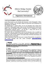Pfarrei Heilige Familie Bad Sassendorf - Katholischen Pfarrei ...
