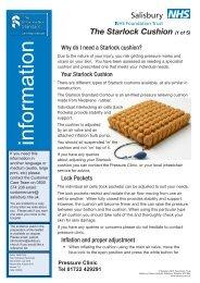 The Starlock Cushion - ICID - Salisbury NHS Foundation Trust