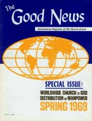 The Good News - Herbert W. Armstrong Library and Archives