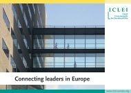 Connecting leaders in Europe - ICLEI Europe