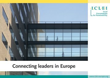 Connecting leaders in Europe - ICLEI Europe