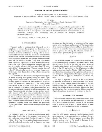 Diffusion on curved, periodic surfaces