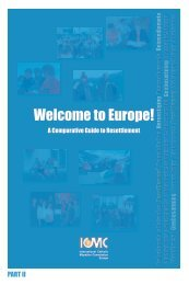 Europe: A guide to resettlement PART II - ICMC