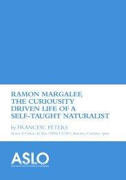 ramon margalef, the curiousity driven life of a - Instituto de Ciencias ...