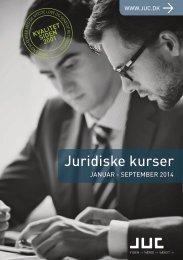 JUC Juridiske kurser januar-september 2014