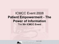 ICMCC Event 2008 Patient Empowerment - The Power of Information
