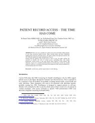 PATIENT RECORD ACCESS – THE TIME HAS COME - ICMCC