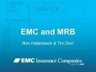EMC and Mutual Reinsurance Bureau - International Cooperative ...