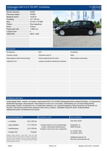 Drukuj ofertę - Auto Kühn GmbH