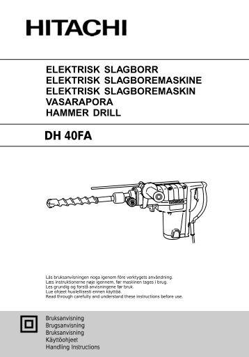 DH 40FA - Hitachi Koki Co., Ltd.