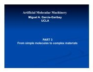 Molecular Machines II