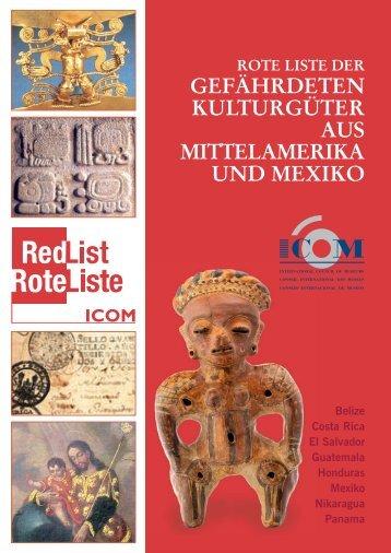 Rote Liste Mittelamerika und Mexiko - ICOM