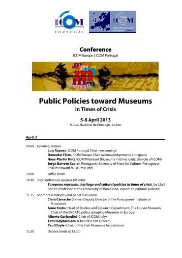 Public Policies toward Museums - ICOM Deutschland