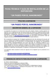 Ficha técnica y guía de la exposición - Materials Science Institute of ...
