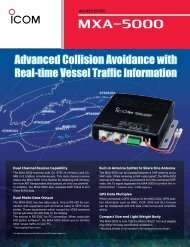 Advanced Collision Avoidance with - ICOM Canada