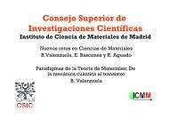 Energías - Materials Science Institute of Madrid - Consejo Superior ...