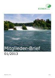 Mitgliederbrief Januar 2013.pdf - ICOMOS Schweiz