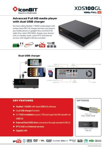 iconBIT XDS100GL Media Player Windows 8 X64