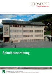 Schulhausordnung - Gemeinde Visperterminen