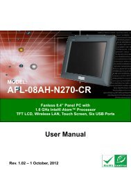 AFL-08AH-N270-CR Panel PC - iEi