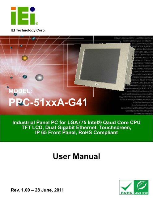 PPC-51xxA-G41 Panel PC - iEi