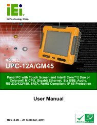 UPC-12A/GM45 Panel PC User Manual - iEi