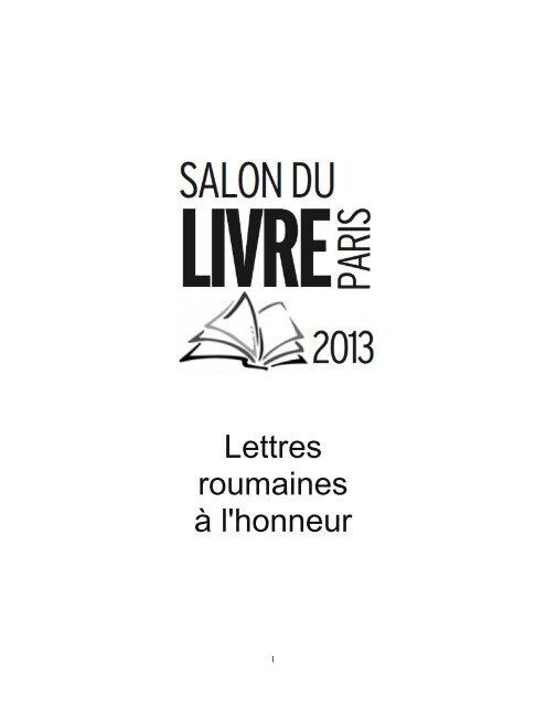 Lettres Roumaines ã Lhonneur Institutul Cultural Romãn