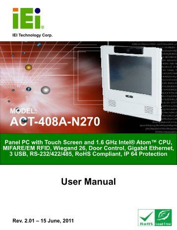 ACT-408A-N270 User Manual - iEi