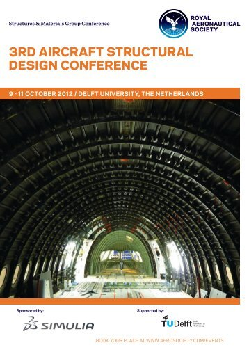 3rd Aircraft Structural Design Conference Programme