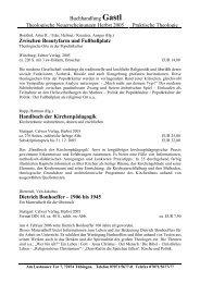 Buchhandlung Gastl Theologische Neuerscheinungen Herbst 2005 ...