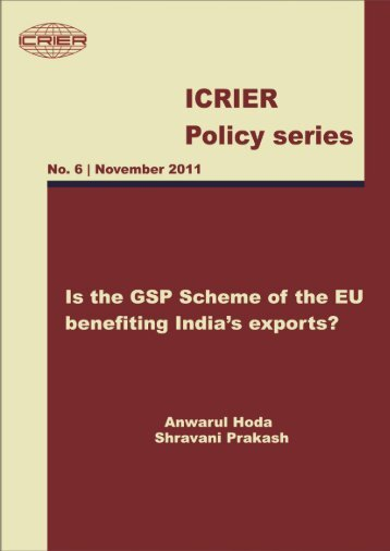 ICRIER Policy Paper 2