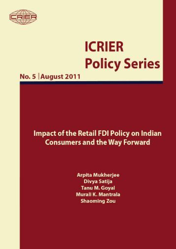 impact of the retail FDI policy on Indian - icrier