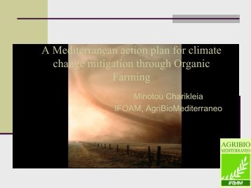 A Mediterranean action plan for climate change mitigation ... - ICROFS