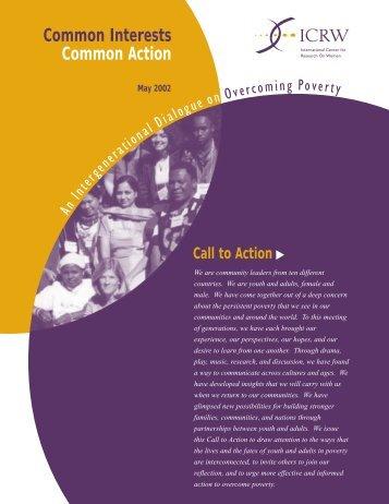 Common Interests, Common Action: an Intergenerational ... - ICRW