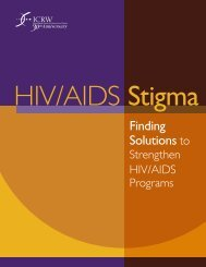 HIV/AIDS Stigma: Finding Solutions to Strengthen HIV/AIDS ... - ICRW