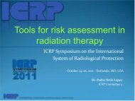 Tools for Risk Assessment in Radiation Therapy - ICRP
