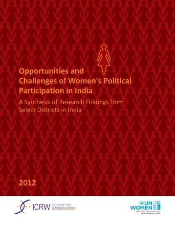 Opportunities and Challenges of Women's Political ... - ICRW