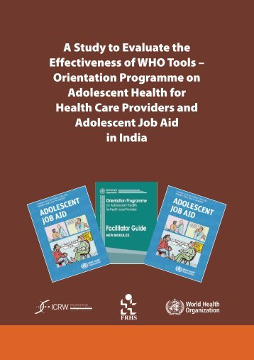 A Study to Evaluate the Effectiveness of WHO Tools.pdf - ICRW