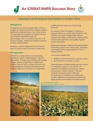 Improving Crop Breeding and Seed Systems in Southern ... - Icrisat