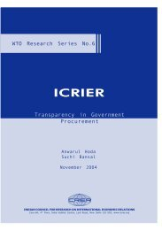 Transparency in Government Procurement - icrier