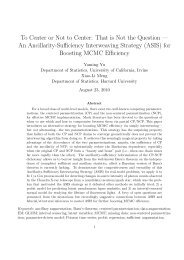 An Ancillarity-Sufficiency Interweaving Strategy - Donald Bren ...