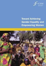 Toward Achieving Gender Equality and Empowering Women - ICRW
