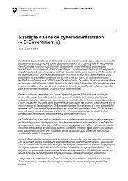 Stratégie suisse de cyberadministration (« E-Government